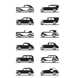 Classic and retro cars vector