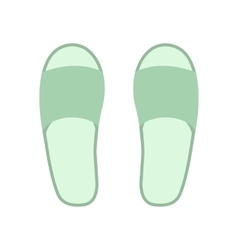 White spa slippers icon vector