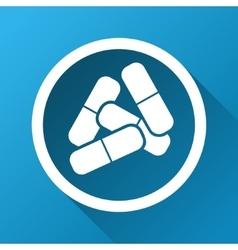 Drugs gradient square icon vector