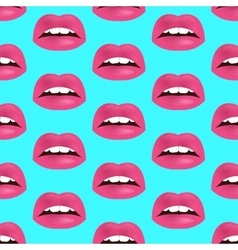 Glamour seamless lip pattern vector