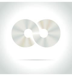 abstract logo design template Disco symbol vector image