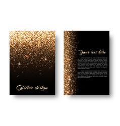 Bling background with glittering lights vector