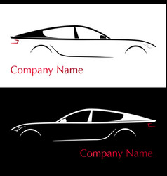 business card for auto company silhouette car vector image vector image