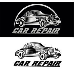 car repair logo team vector image vector image