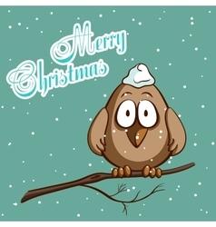 Christmas Greeting Card Bird vector image