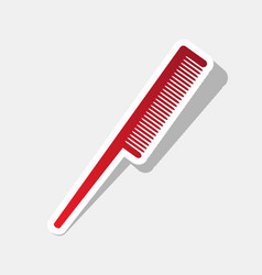 Comb sign new year reddish icon with vector