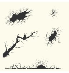 Different cracks set vector