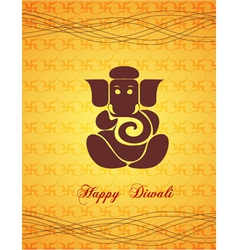 diwali card vector image