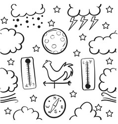 Doodle of weather style vector
