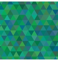 Green triangle geometric mosaic card vector