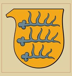 Heraldic horns vector