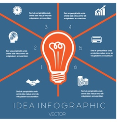 Idea business concept light bulb infographic 6 vector