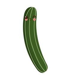 Kawaii cucumber vegetable fresh food image vector