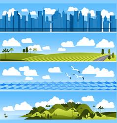 landscape template set vector image