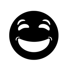 laughing emoticon style pictogram vector image vector image