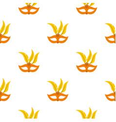 Mask pattern flat vector