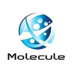 Molecule logo vector image vector image