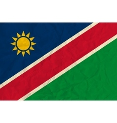 Namibia paper flag vector image