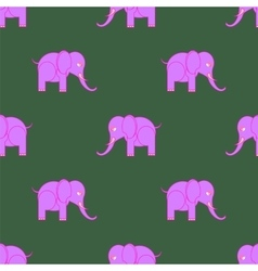 Pink Elephant Seamless Pattern vector image vector image