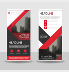 red black triangle business roll up banner vector image vector image