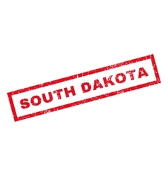 South dakota rubber stamp vector