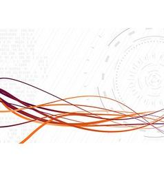 Streamed futuristic wave - rapid data transfer vector