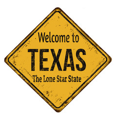 Welcome totexas vintage rusty metal sign vector