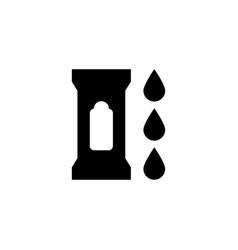 Wet wipes icon vector