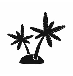 Palm trees on island icon simple style vector