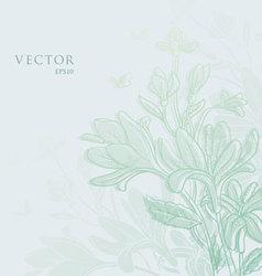 flowers vintage vector image