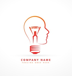 Concept business symbol design with face and bulb vector