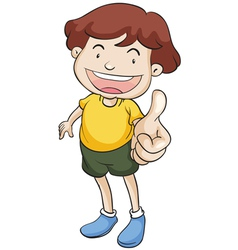 Boy with thumbs up vector image