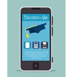 Education online smartphone app design vector