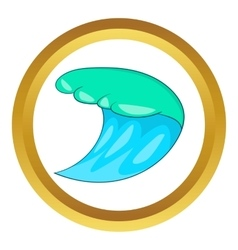 Blue ocean wave icon vector