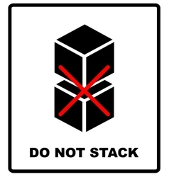Do not stack packaging symbol on a corrugated vector
