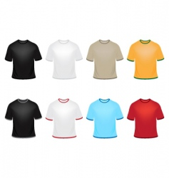 Set of t-shirts vector