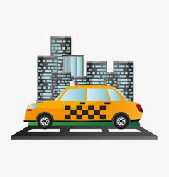 taxi car service public transport urban background vector image
