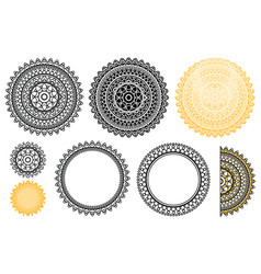 Collection elements from indian mandala vector