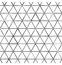 Seamless pattern with ink triangles drawing vector