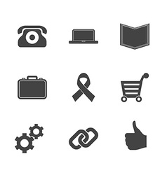 Set of e-commerce icons vector