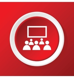 Audience icon on red vector