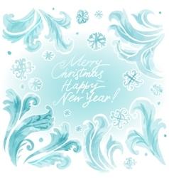 abstract frozen ice texture on winter window vector image