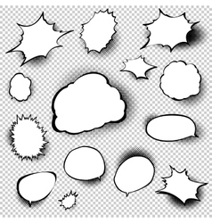 Set of comic style speech bubbles eps 10 vector
