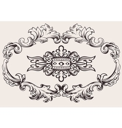 royal frame decoration vector image