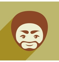 Modern flat icon with long shadow indian man vector