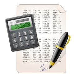 Financial report vector
