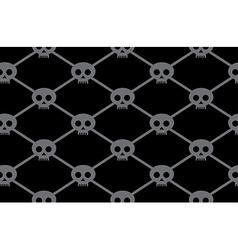 Black funny skulls pattern vector image