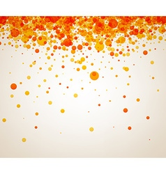 Background with orange drops vector image