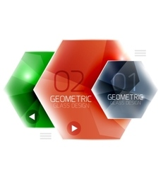 Hexagon option infographics vector