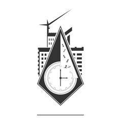 abstract clock icon vector image vector image